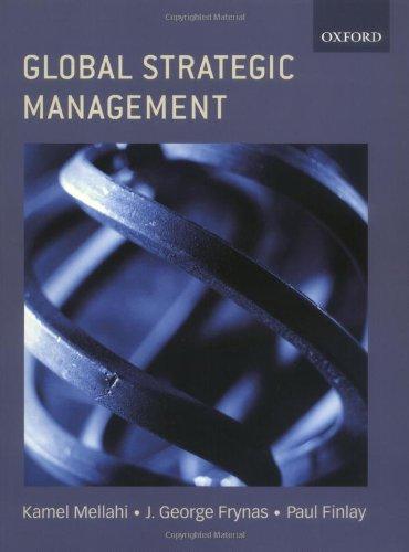 Global Strategic Management: Kamel Mellahi, Jedrzej