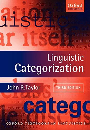 9780199266647: Linguistic Categorization