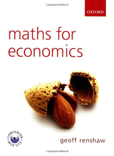 Maths For Economics Geoff Renshaw Pdf