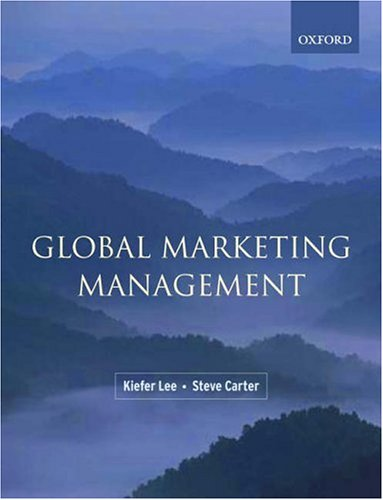 Global Marketing Management: Kiefer Lee; Carter,
