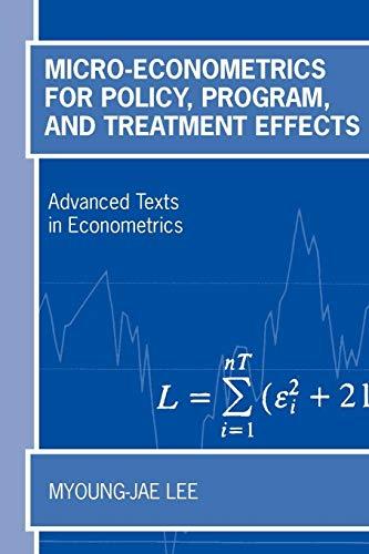 9780199267699: Micro-Econometrics for Policy, Program, and Treatment Effects (Advanced Texts in Econometrics)