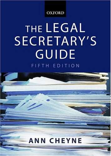 9780199268405: The Legal Secretary's Guide