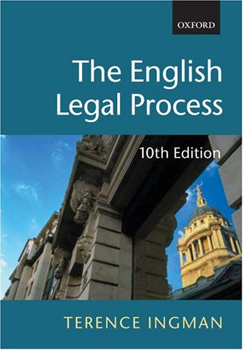 9780199268696: The English Legal Process