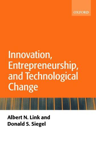 Innovation, Entrepreneurship, and Technological Change (Paperback): Link, Albert N.;