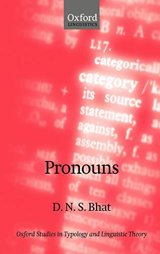 9780199269129: Pronouns (Oxford Studies in Typology and Linguistic Theory)