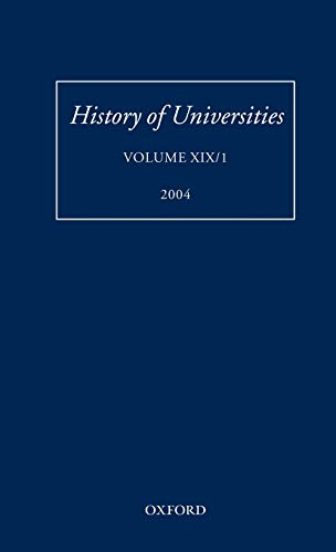 History of Universities: Volume XIX/1