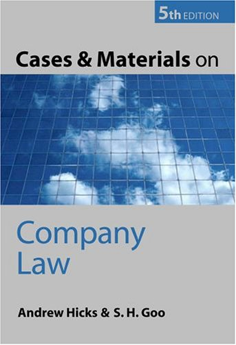 9780199270613: Cases and Materials on Company Law