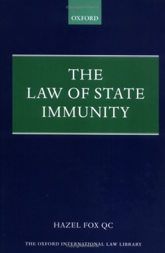 9780199270996: The Law of State Immunity (Oxford International Law Library)