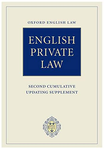 9780199271511: English Private Law: Second Cumulative Updating Supplement