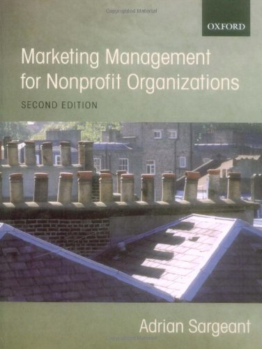 9780199271825: Marketing Management for Nonprofit Organizations