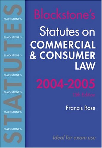 Statutes on Commercial and Consumer Law