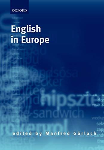 9780199273102: English in Europe