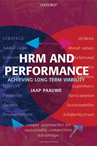 HRM and Performance: Achieving Long Term Viability: Paauwe, Jaap