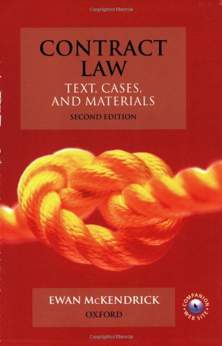 9780199274802: Contract Law: Text, Cases, & Materials