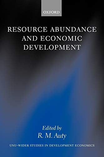 9780199275786: Resource Abundance and Economic Development (WIDER Studies in Development Economics)