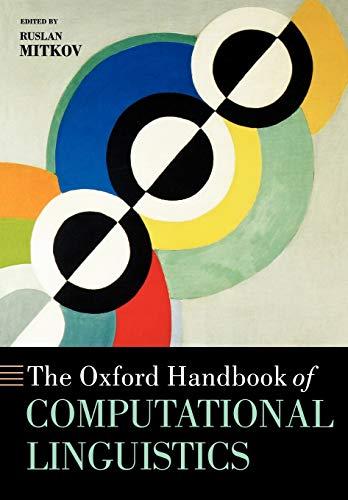 9780199276349: The Oxford Handbook of Computational Linguistics (Oxford Handbooks)