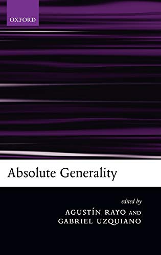 9780199276424: Absolute Generality