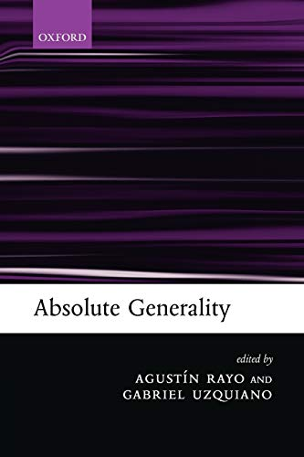 9780199276431: Absolute Generality