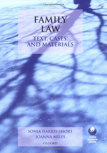 9780199277162: Text, Cases, and Materials: Family Law