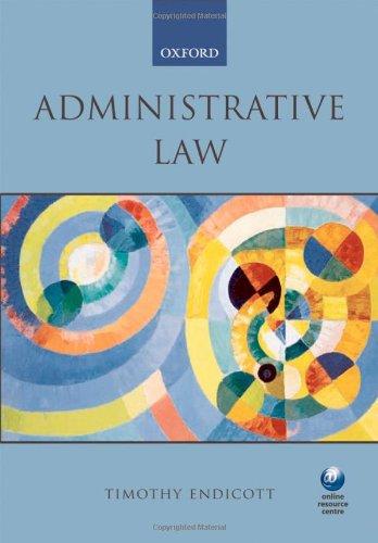 9780199277285: Administrative Law