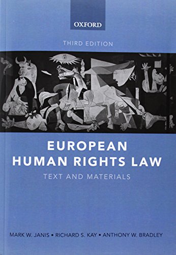9780199277469: European Human Rights Law: Text and Materials