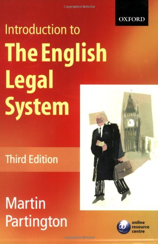 9780199278299: Introduction to the English Legal System