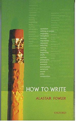 9780199278503: How to Write