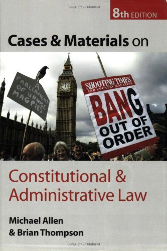 9780199278794: Cases and Materials on Constitutional and Administrative Law