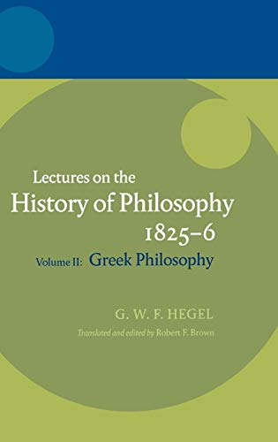 9780199279067: Hegel: Lectures on the History of Philosophy Volume II: Greek Philosophy