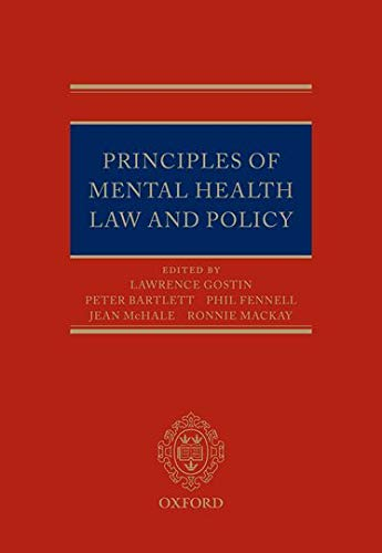 Principles of Mental Health Law and Policy (Hardback)