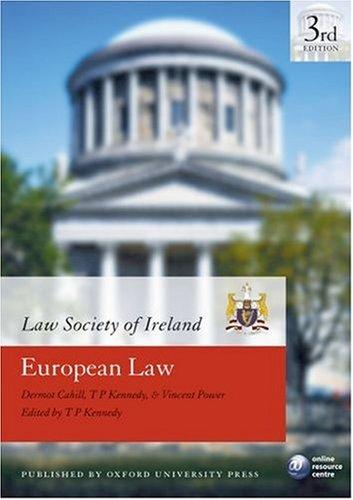 9780199280230: European Law (Law Society of Ireland Manual)