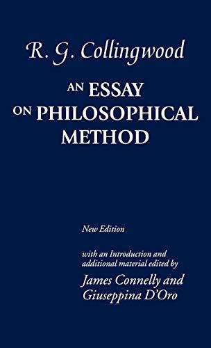 9780199280872: An Essay on Philosophical Method