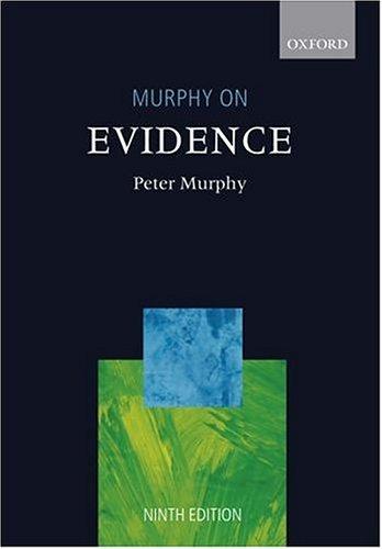9780199281138: Murphy on Evidence