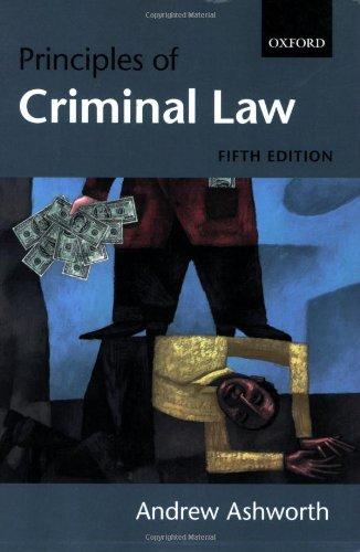9780199281145: Principles of Criminal Law