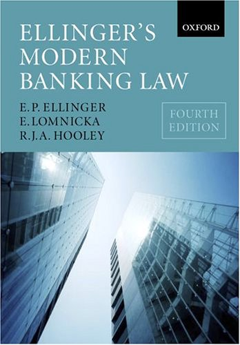 Ellinger's Modern Banking Law: E. P. Ellinger,