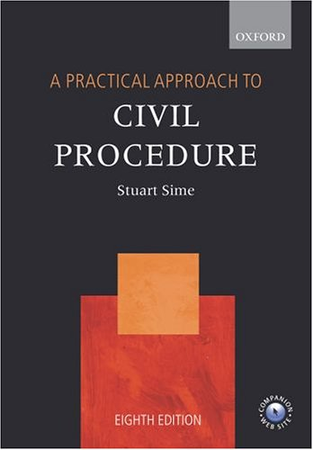 9780199281367: A Practical Approach to Civil Procedure