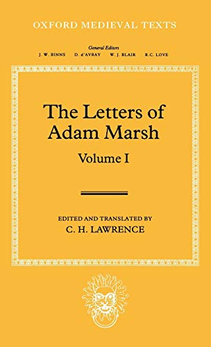 The Letters of Adam Marsh (Oxford Medieval Texts)