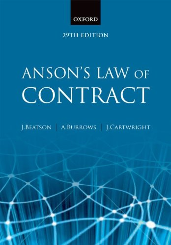 9780199282470: Anson's Law of Contract