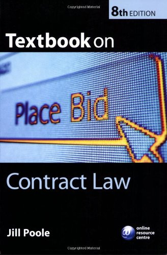 9780199282487: Textbook on Contract Law