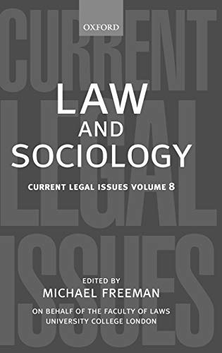 9780199282548: Law and Sociology: Current Legal Issues Vol. 8