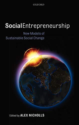 9780199283873: Social Entrepreneurship: New Models of Sustainable Social Change