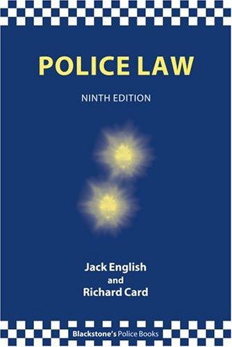 9780199284054: Police Law (Blackstone's Police Books)