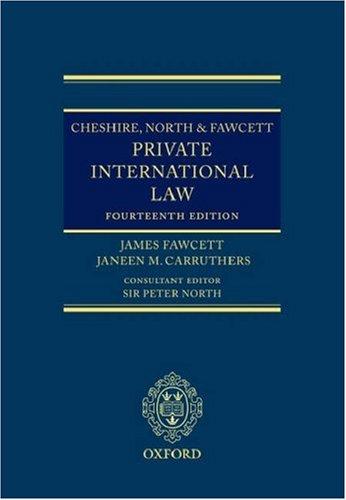 9780199284252: Cheshire, North & Fawcett: Private International Law