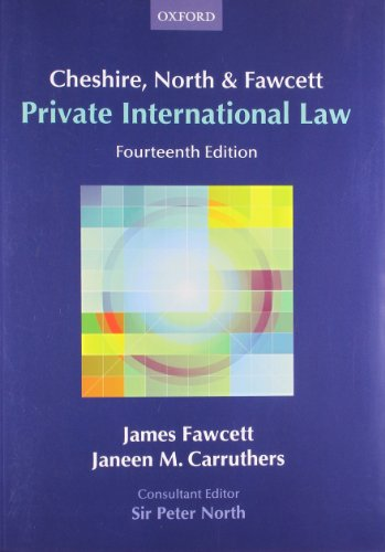 9780199284382: Cheshire, North & Fawcett: Private International Law