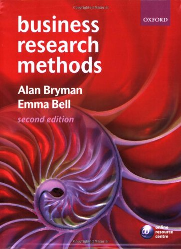 Business Research Methods: Alan Bryman, Emma