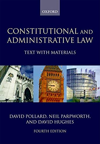 9780199286379: Constitutional and Administrative Law: Text with Materials