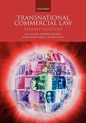9780199287079: Transnational Commercial Law: Primary Materials