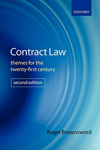 9780199287611: Contract Law: Themes for the Twenty-First Century