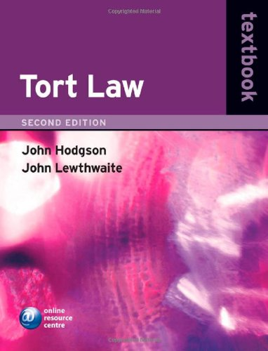 Tort law textbook. 2nd edition.: Hodgson, John & John Lewthwaite.