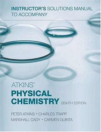 9780199288571: Instructor's Solutions Manual to Accompany Atkins' Physical Chemistry, Eighth Edition